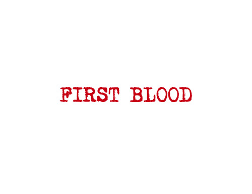 First Blood Characters logo