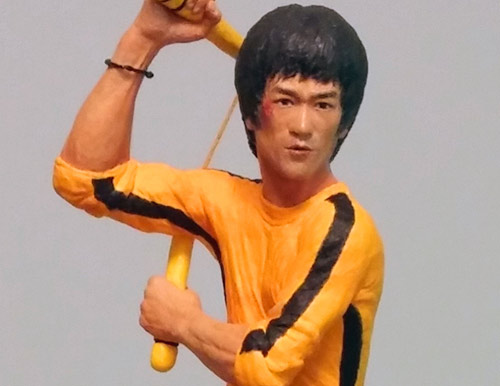 Bruce Lee as Hai Tien in Game of Death yellow jumpsuit nunchaku tribute by Marten Go aka MGO
